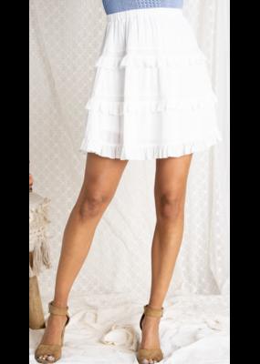 Baevely Baevely Tiered Ruffled Hem Skirt BK1105