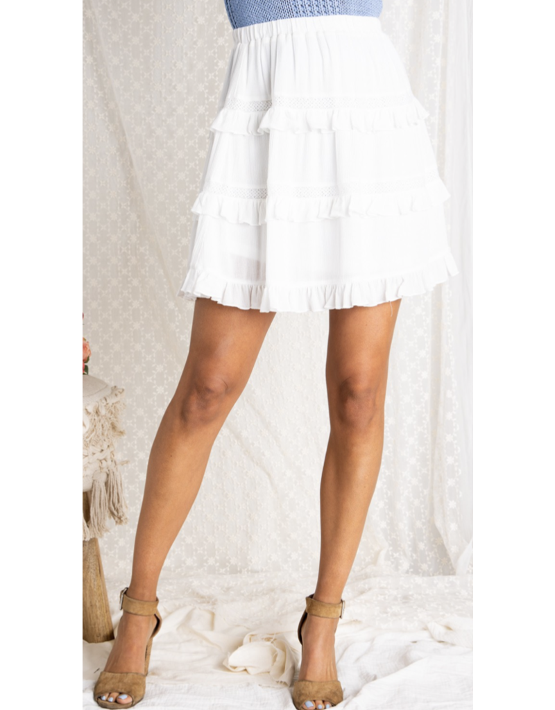 Baevely Baevely Tiered Ruffled Hem Skirt BK1105