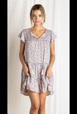 Baevely Baevely Tiered Ruffle Hem Dress BD4728