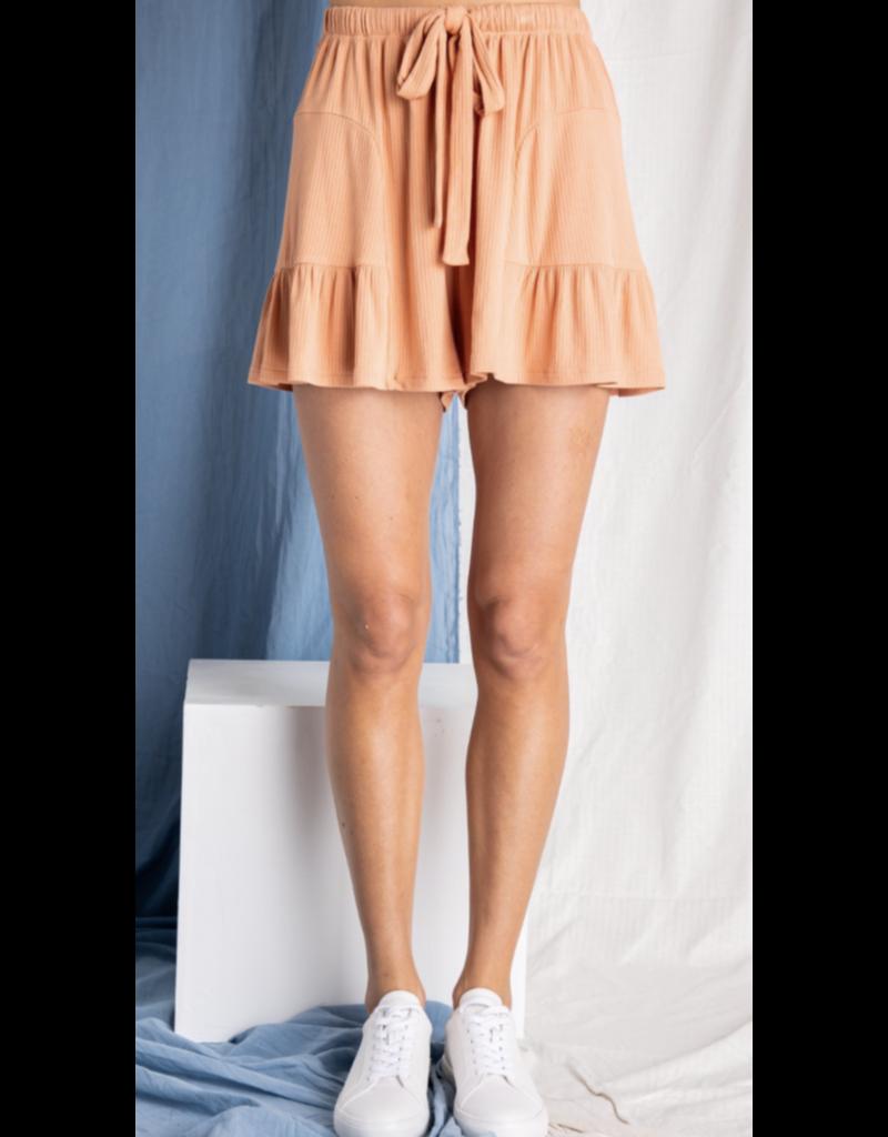 Baevely Baevely Ruffle Hem Shorts BP6303