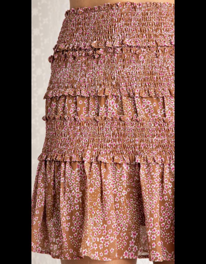 Baevely Baevely Floral Print Skirt BK1109