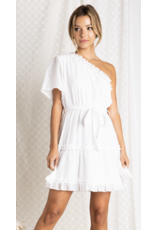Baevely Baevely One Shoulder Ruffle Dress BD4706