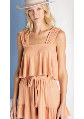 Baevely Baevely Flowy Cropped Tank Top BT2616