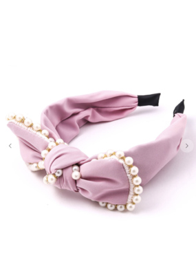 Anarchy Street Anarchy Street  Pearl Studded Knot Head Band MMH7715