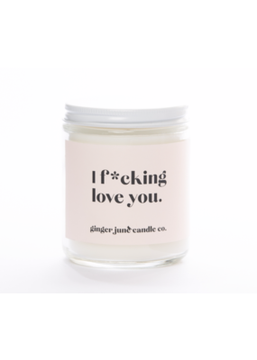 Ginger June Candle Co. Ginger June Candle Co. I F*cking Love You- Apple Candle