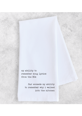 Dev D + Co. Dev D + Co. My Ability To Remember- Tea Towel