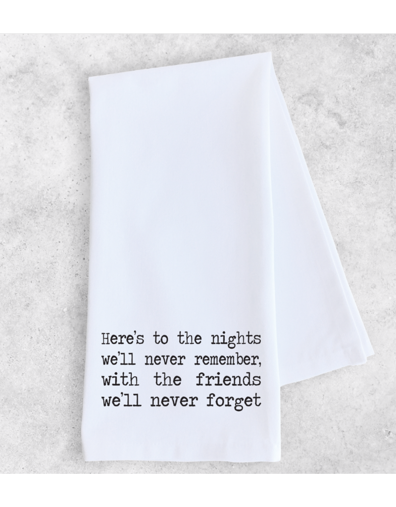 Dev D + Co. Dev D + Co. Here's to the Nights- Tea Towel