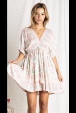 Baevely Baevely V-Neck Bohemian Sun Dress BD4729 Sage