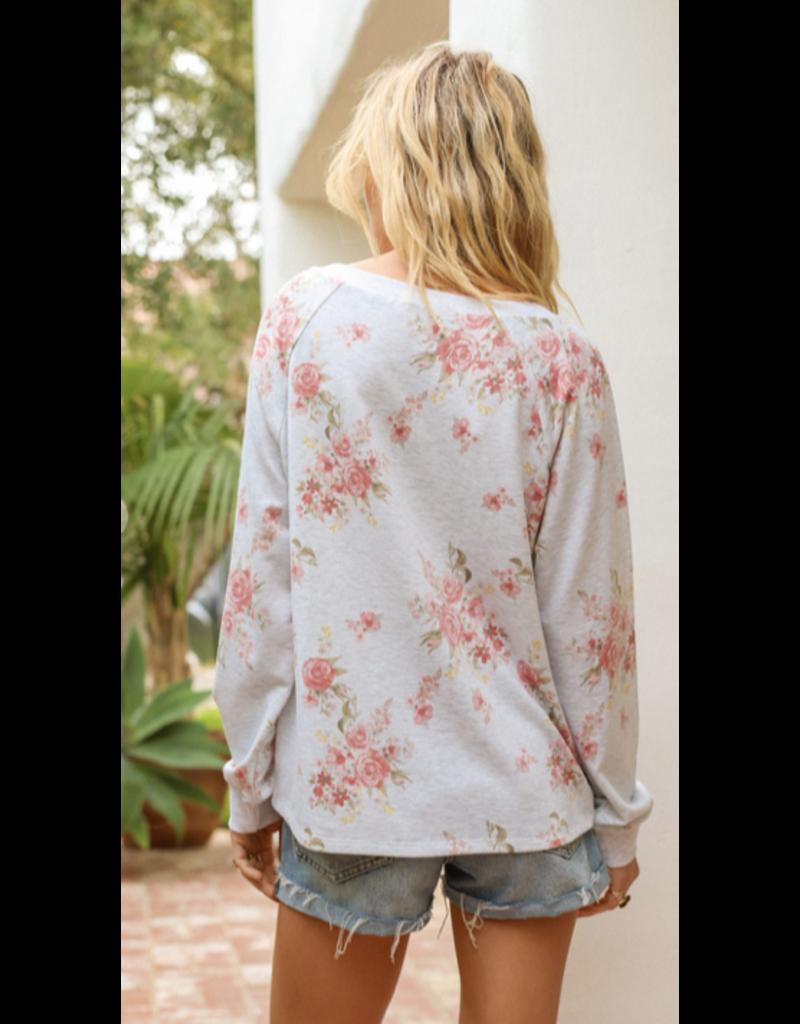 Hem & Thread Hem + Thread Floral Sweatshirt 30243G