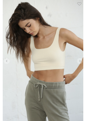 By Together By Together Seamless Ribbed Tank Short Top S1018