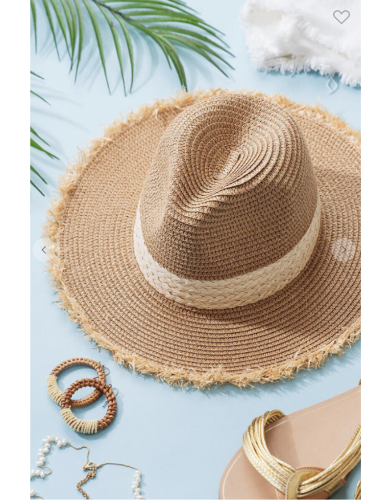 Trend Notes Trend Notes Raw Edge Boho Hat 0304-6382-2