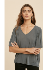 In Loom In Loom Flutter Sleeve V-Neck Top IL1985