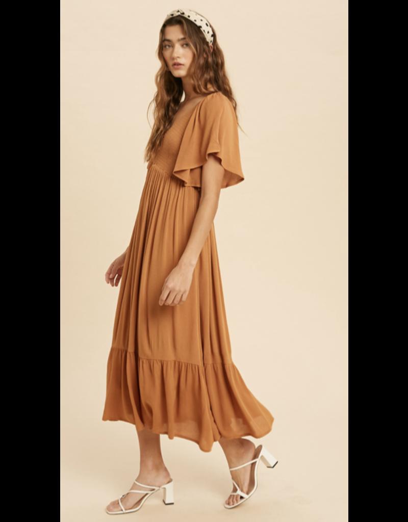 In Loom In Loom Flutter Sleeve Dress ILD2448-M