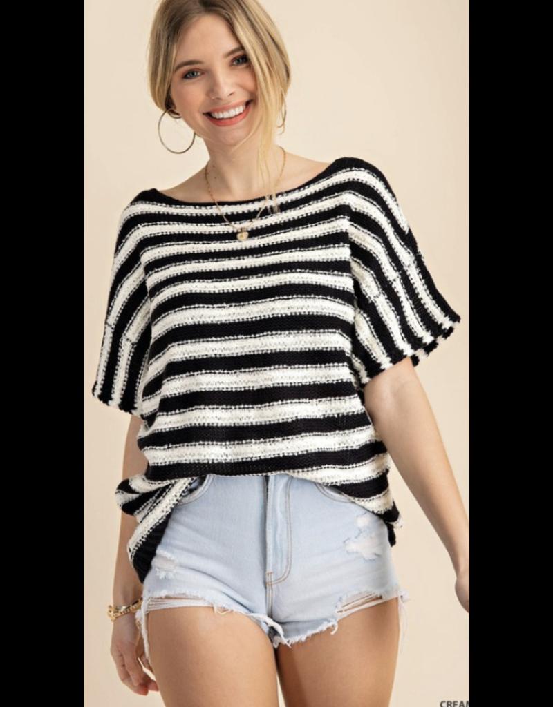 Style U Style U Boat Neck Poncho Sweater S2322