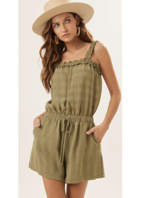 Lush Lush Romper with Drawstring P7064