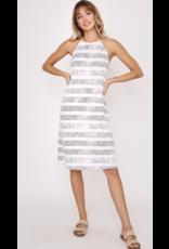 Ces Femme Ces Femme Striped Halter Dress DY5404