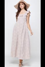 Ellison Ellison Floral Print Maxi Dress KD-1048-6