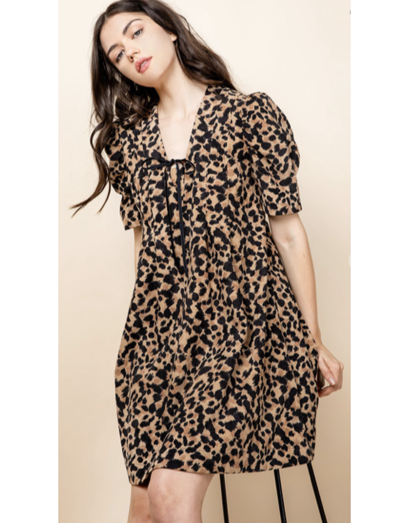 THML THML Pintucked Ruched Dress