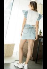 THML THML Eyelet Flower Short Sleeve Top THS0893-3