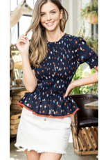 THML THML Confetti Print Smocked Top THS0904
