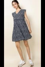 THML THML V Neck Short Sleeve Dress WCT699