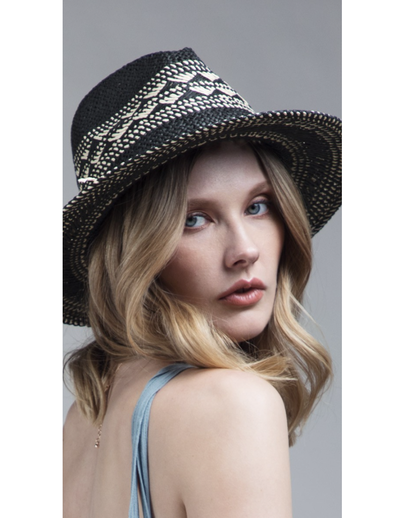 urbanista Urbanista Crisscross Straw Hat 30H5050 Blk/Natural