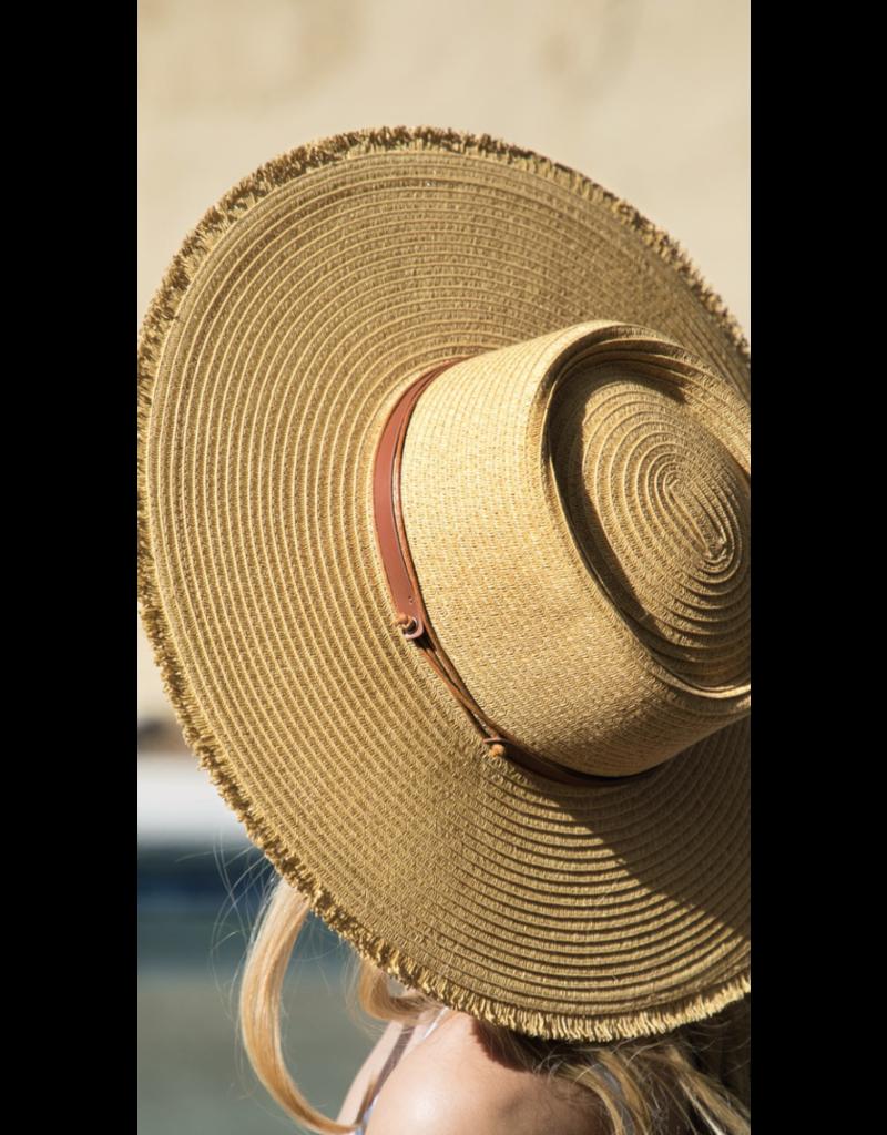 urbanista Urbanista Fringe Straw Hat 30H5082 Dark Natural