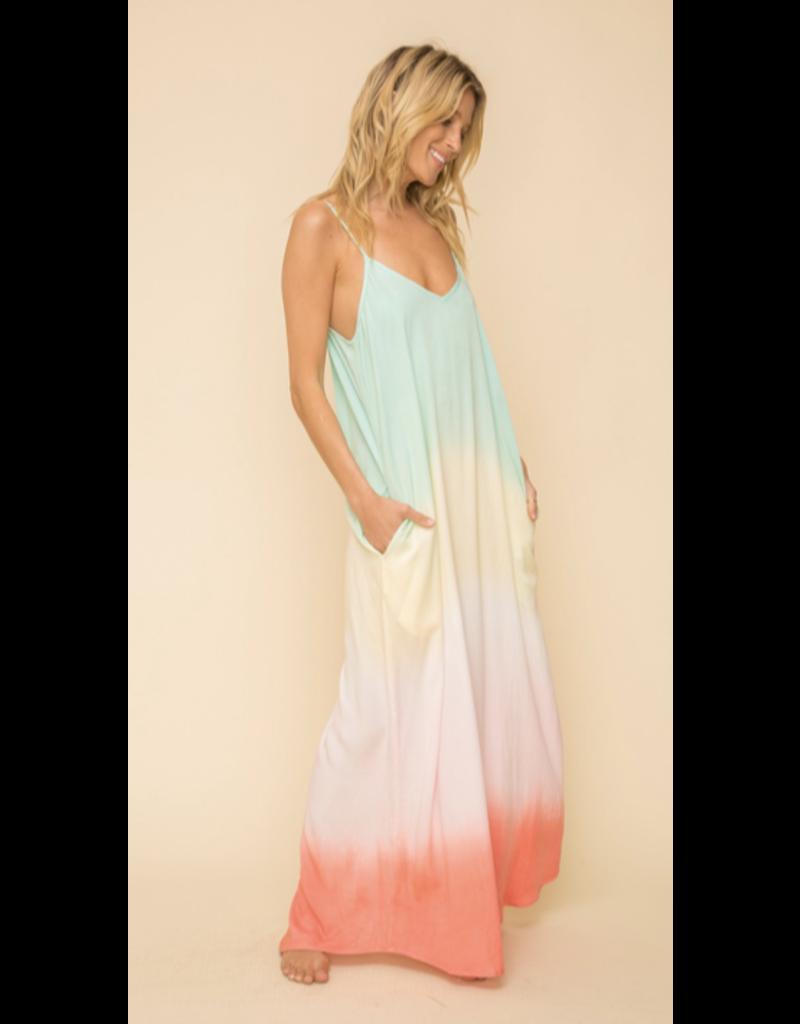 Hem & Thread Hem + Thread Rainbow Maxi Dress 30569W