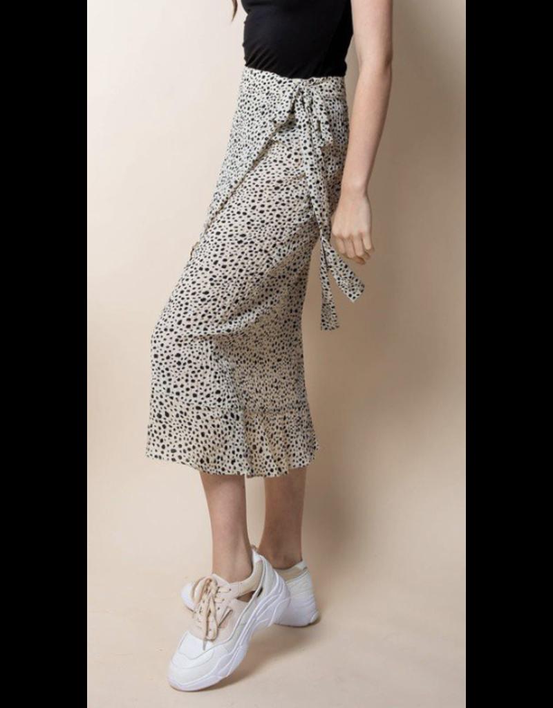 THML THML Polka Dot Wrap Skirt WCT501