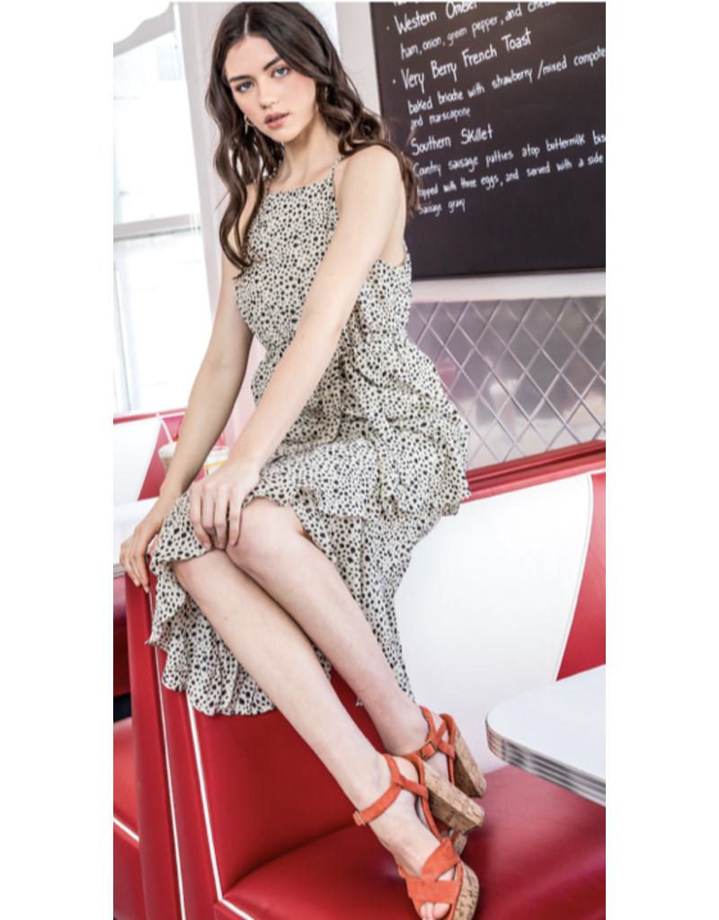 THML THML Halter Dress with Ruffles WCT508