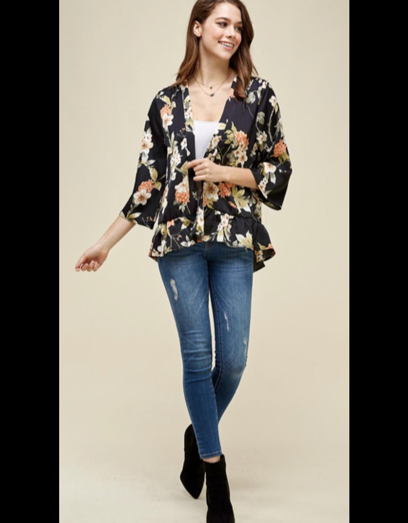 Les Amis Les Amis Floral Kimono T0485