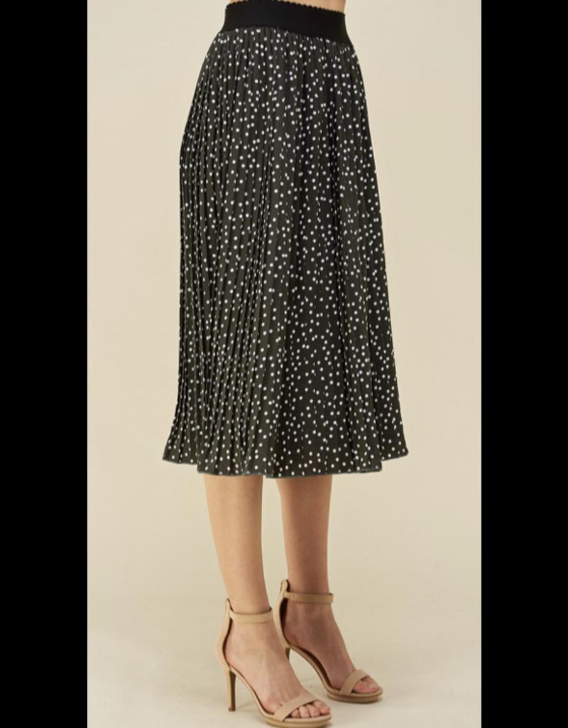 Les Amis Les Amis Pleated Polka Dot Skirt S0997A