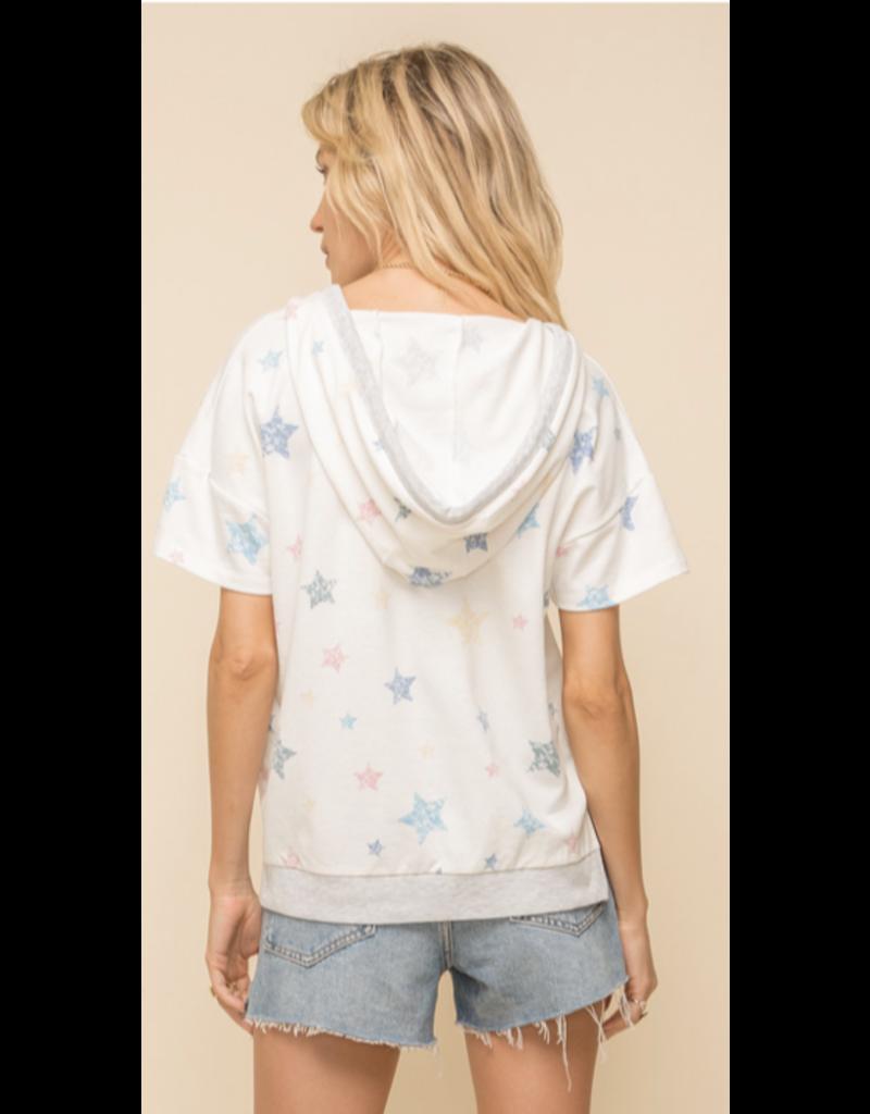 Hem & Thread Hem + Thread Star Print Hoodie 30726
