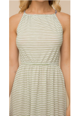 Hem & Thread Hem + Thread Striped Tiered Midi Dress 30363W