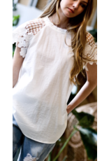 Mazik Mazik Lace Sleeve Top MK3592