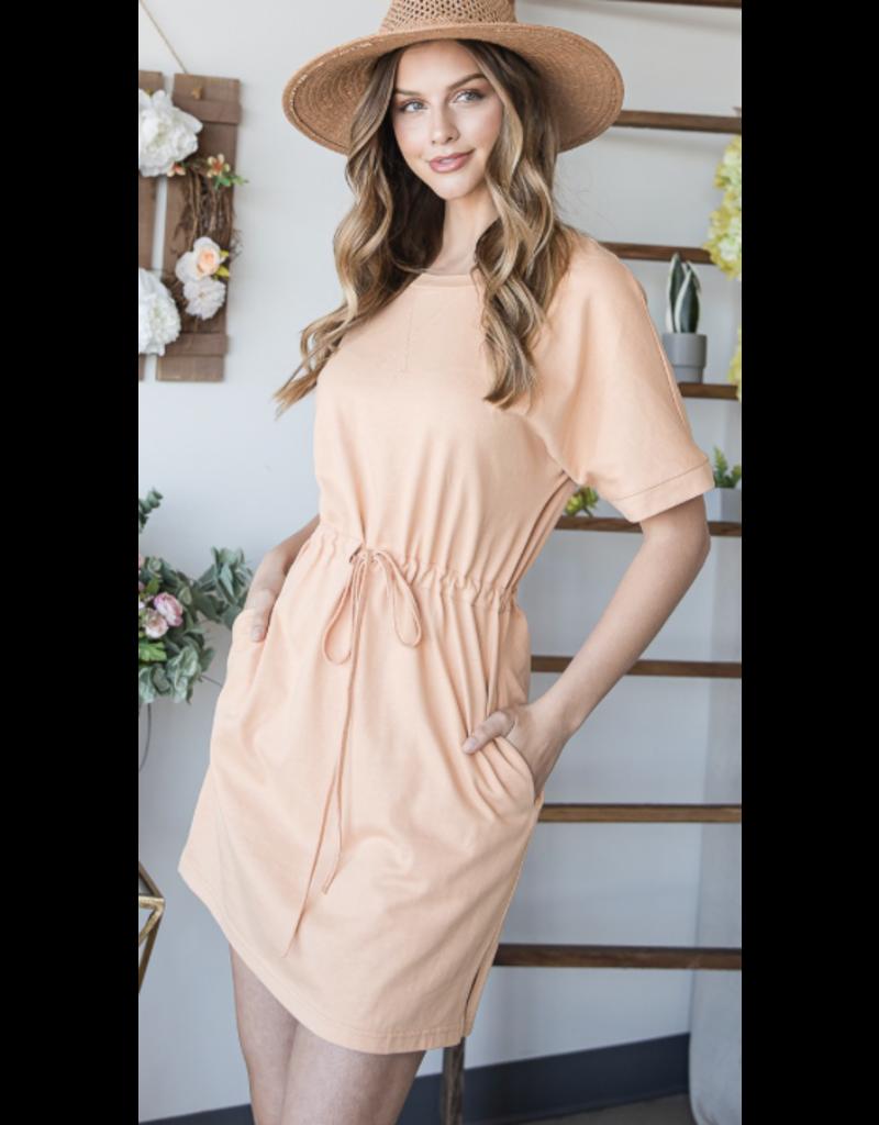 Heyson Heyson Short Sleeve Knit Dress HD6199