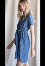 Heyson Heyson V-Neck Denim Dress HD6218