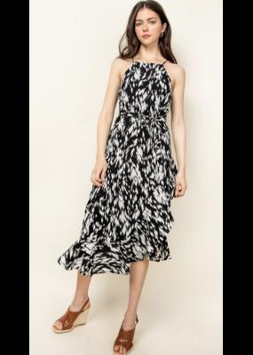 THML THML Halter Ruffle Dress WCT1000-1