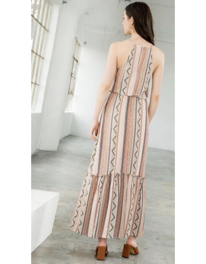 THML THML Halter Print Midi Dress JH1430