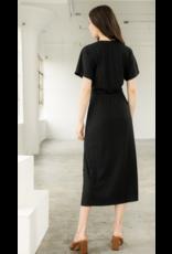 THML THML V-Neck Knit Midi Dress with Slit WCT1011