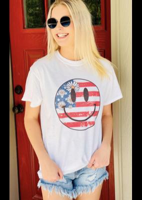 Dash Forward Dash Forward USA Smiley T-Shirt