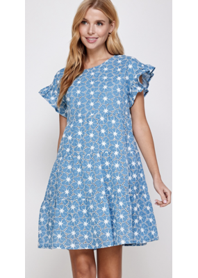 Solution Solution Floral Print A Line Dress S-23891