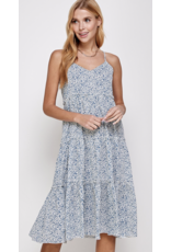 Solution Solution Tiered Pleated Dress S-23924