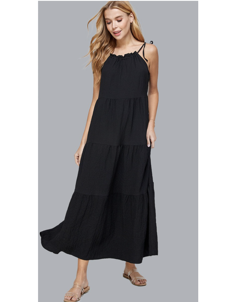 Solution Solution The Leslie Spaghetti Tie Strap Dress S-23733G