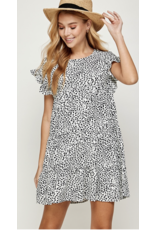 Solution Solution Ruffled Short Sleeve Dress S-24085