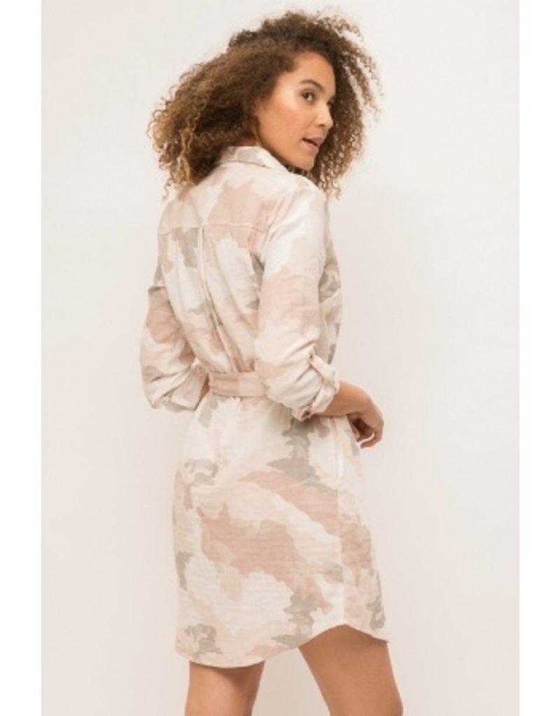 Mystree Mystree Camo Shirt Dress 19225