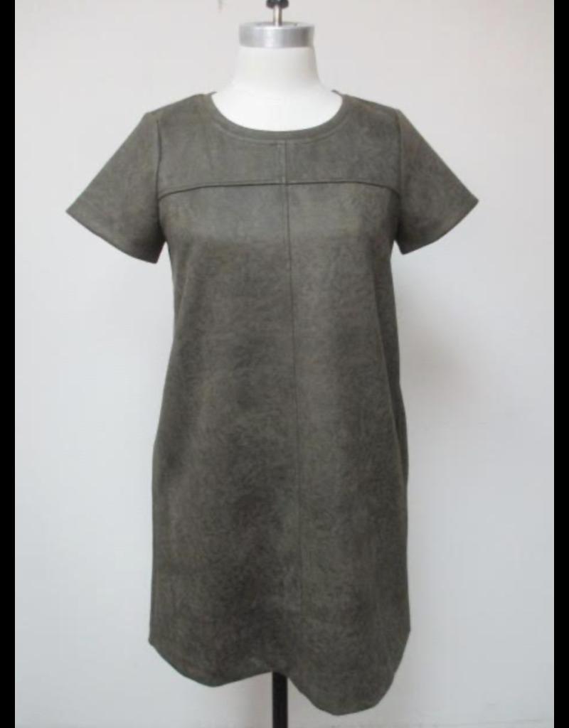 Mystree Mystree Short Sleeve Shift Dress