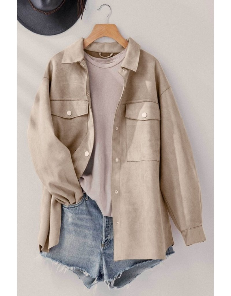 Trend Notes Trend Notes Faux Suede Oversized Jacket