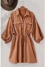 Trend Notes Trend Notes Utility Button Up Shirt Dress