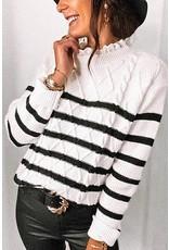 Mazik Mazik Cable Tie Stripe Sweater